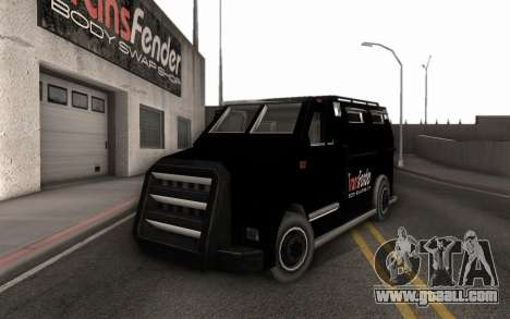 Machine delivery tuning parts for GTA San Andreas