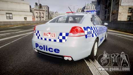 Holden Commodore Omega Victoria Police [ELS] for GTA 4 back left view