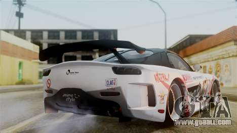 Mazda RX-7 Veilside Mugi Itasha for GTA San Andreas left view