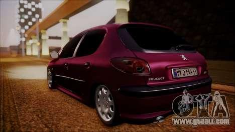 Peugeot 206 Al Piso for GTA San Andreas
