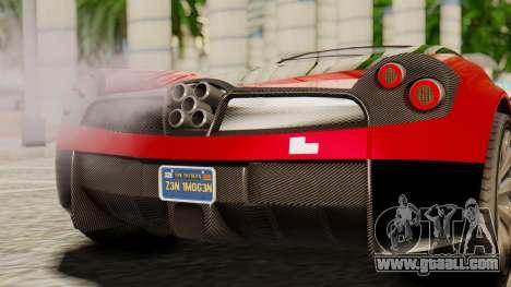 Pegassi Osyra for GTA San Andreas back view
