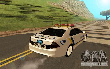 Ford Taurus Ukraine Police for GTA San Andreas right view