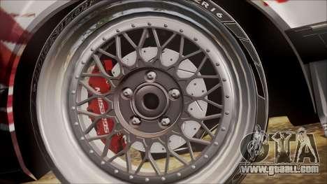 BMW E24 Shakugan No Shana Itasha for GTA San Andreas back view