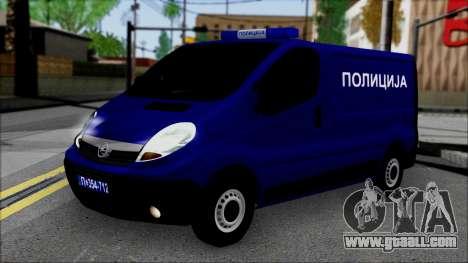 Opel Vivaro Policija for GTA San Andreas