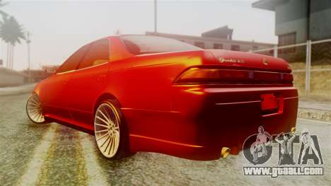 Toyota Mark 2 for GTA San Andreas back left view