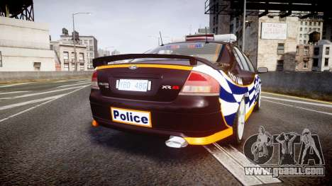 Ford Falcon BA XR8 Highway Patrol [ELS] for GTA 4 back left view
