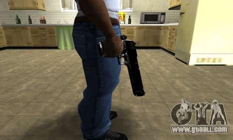 Black Cool Deagle for GTA San Andreas third screenshot