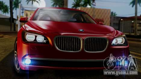 BMW 7 Series F02 2013 for GTA San Andreas side view