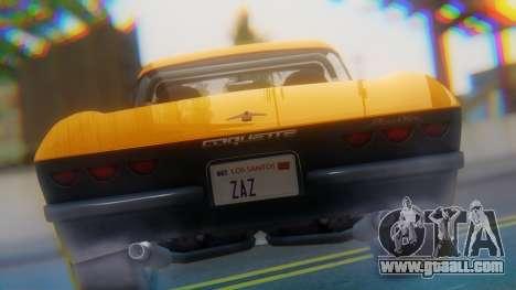 Invetero Coquette BlackFin Not Convertible for GTA San Andreas back view