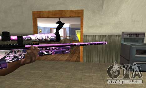 Neon Sniper Rifle for GTA San Andreas second screenshot