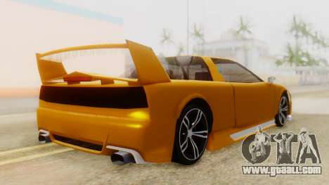 Infernus BMW Revolution with Spoiler for GTA San Andreas left view