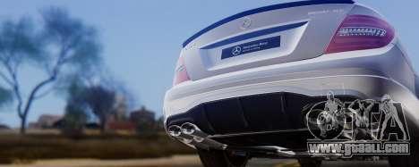 Mercedes-Benz C63 AMG 2013 for GTA San Andreas upper view
