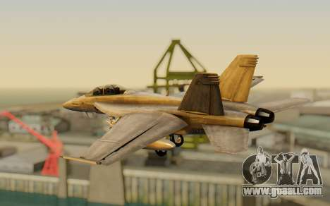 FA-18F Super Hornet BF4 for GTA San Andreas left view