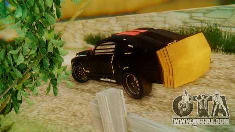 Shelby GT500 Death Race for GTA San Andreas left view