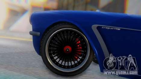 Invetero Coquette BlackFin Convertible for GTA San Andreas back left view