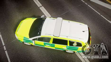 Volkswagen Passat B7 North West Ambulance [ELS] for GTA 4 right view