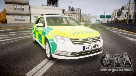 Volkswagen Passat B7 North West Ambulance [ELS] for GTA 4