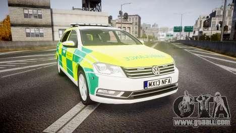 Volkswagen Passat B7 North West Ambulance [ELS] for GTA 4