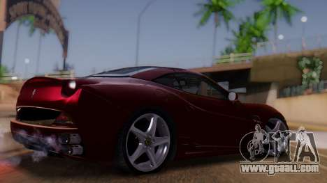 Ferrari California v2.0 for GTA San Andreas left view