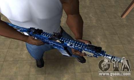 Blue Life M4 for GTA San Andreas second screenshot