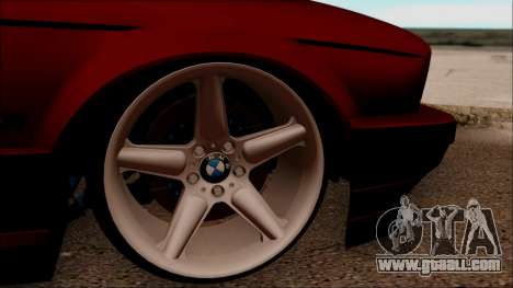 BMW M5 Touring E34 for GTA San Andreas back view