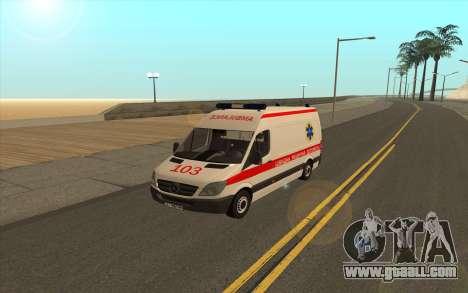 Mercedes-Benz Sprinter Ambulance Ukraine for GTA San Andreas