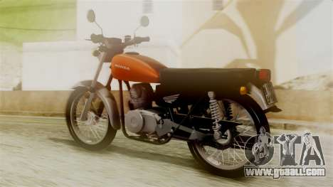 Honda CG 125 Classic for GTA San Andreas left view