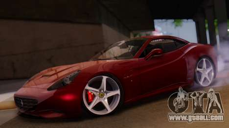 Ferrari California v2.0 for GTA San Andreas inner view