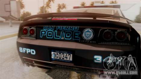 Hunter Citizen from Burnout Paradise Police SF for GTA San Andreas back view