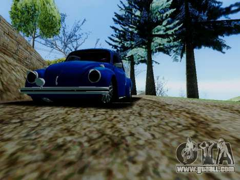 Volkswagen Beetle 1980 Stanced v1 for GTA San Andreas upper view