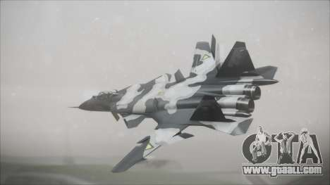 SU-47 Berkut Grabacr Ace Combat 5 for GTA San Andreas left view
