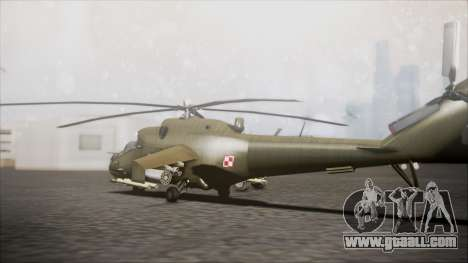 Mil Mi-24W Polish Land Forces for GTA San Andreas left view