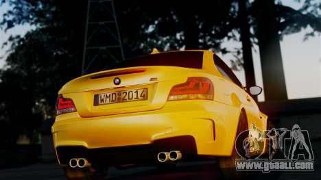BMW 1M E82 v2 for GTA San Andreas inner view