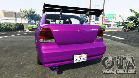 GTA 5 Declasse Asea Chevrolet Aveo rear left side view