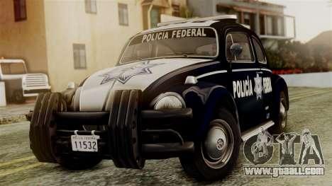 Volkswagen Beetle 1963 Policia Federal for GTA San Andreas