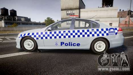 Holden Commodore Omega Victoria Police [ELS] for GTA 4 left view
