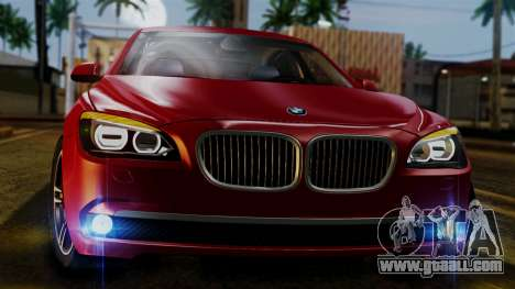 BMW 7 Series F02 2013 for GTA San Andreas inner view