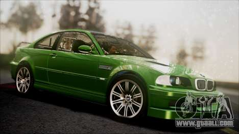 BMW M3 GTR Street Edition for GTA San Andreas inner view
