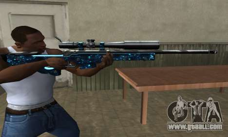 Sniper Blue Snow for GTA San Andreas third screenshot