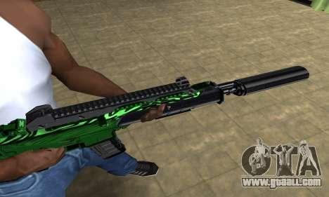 Full Green M4 for GTA San Andreas second screenshot