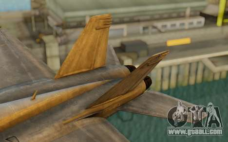 FA-18F Super Hornet BF4 for GTA San Andreas back left view