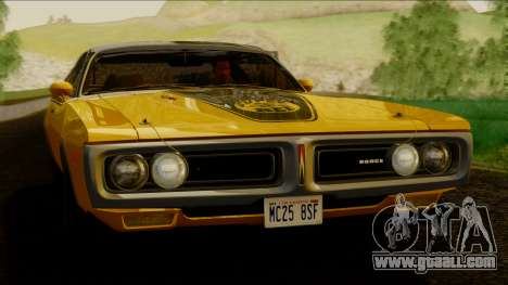 Dodge Charger Super Bee 426 Hemi (WS23) 1971 IVF for GTA San Andreas back left view