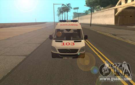 Mercedes-Benz Sprinter Ambulance Ukraine for GTA San Andreas left view