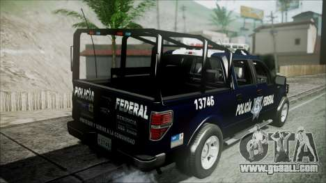 Ford Pickup Policia Federal for GTA San Andreas back view