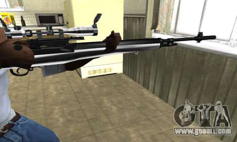 Silver Sniper Rifle for GTA San Andreas second screenshot