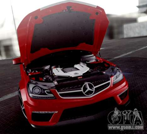 Mercedes-Benz C63 AMG 2013 for GTA San Andreas bottom view