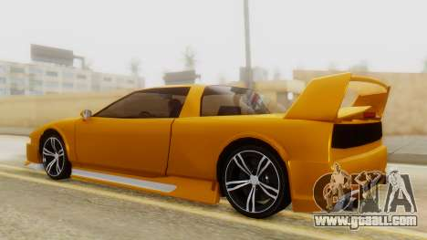 Infernus BMW Revolution with Spoiler for GTA San Andreas back left view