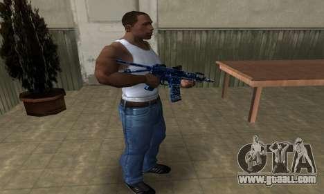 Blue Life M4 for GTA San Andreas third screenshot