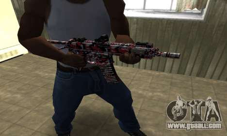 M4 Red Camo for GTA San Andreas second screenshot