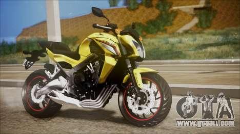 Honda CB650F Amarela for GTA San Andreas